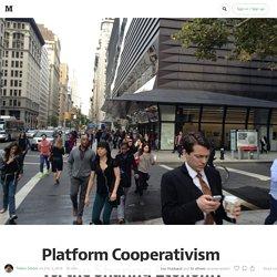 Mutualismo 2.0. L'alternativa alla Uber economy