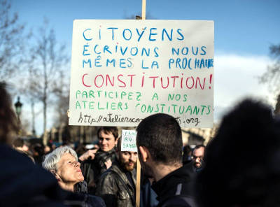 J. Rancière su Nuit Debout, la democrazia, l'orizzontalismo, la costituzione….