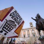 Corteo Roma:manifestanti verso Campidoglio,siamo 20mila