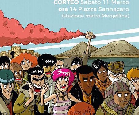 Napoli 11 marzo: #MAICONSALVINI, #NAPOLI NON TI VUOLE