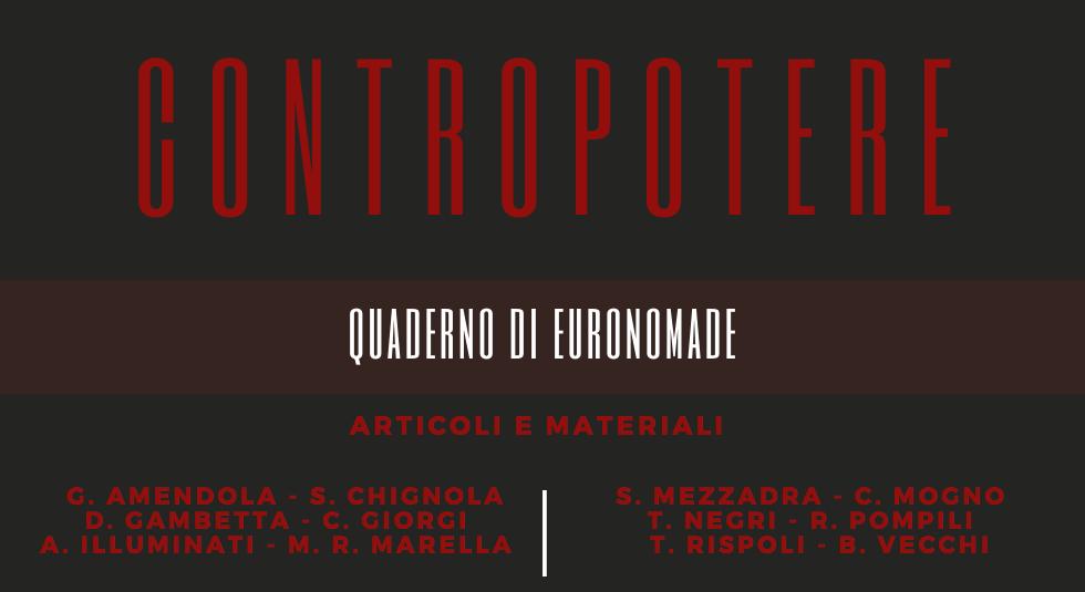 Quaderno di EuroNomade – Contropotere