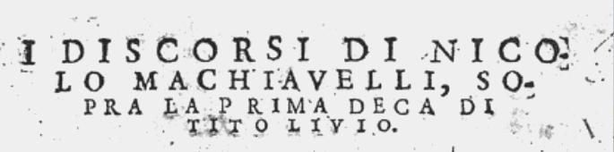 Niccolò Machiavelli, I tribuni della plebe (1513-1519)