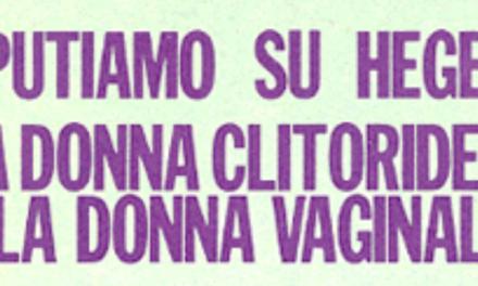 Carla Lonzi, La donna  clitoridea e la donna  vaginale (1971)