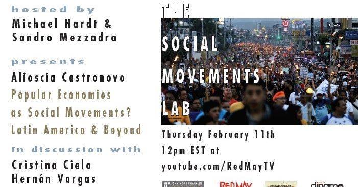 Popular Economies as Social Movements? Latin America & Beyond – The social Movements Lab
