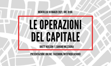 "Presentazione di ""Operazioni del capitale"" – Into The Black Box 10.03 alle 19:00"