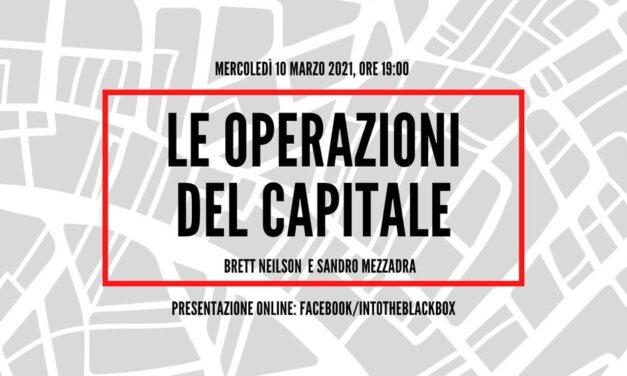 """Presentazione di """"Operazioni del capitale"""" – Into The Black Box 10.03 alle 19:00"""